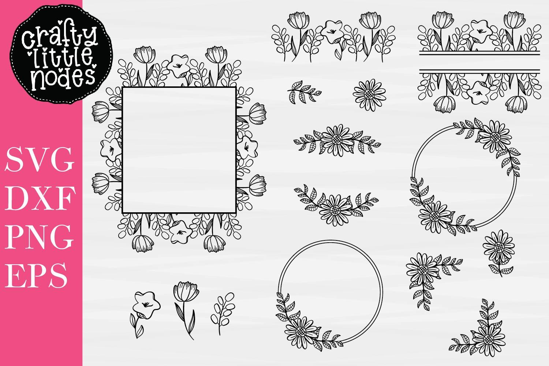 Floral Design Bundle - Perfect For Sign Making! - 15 SVG's example image 1