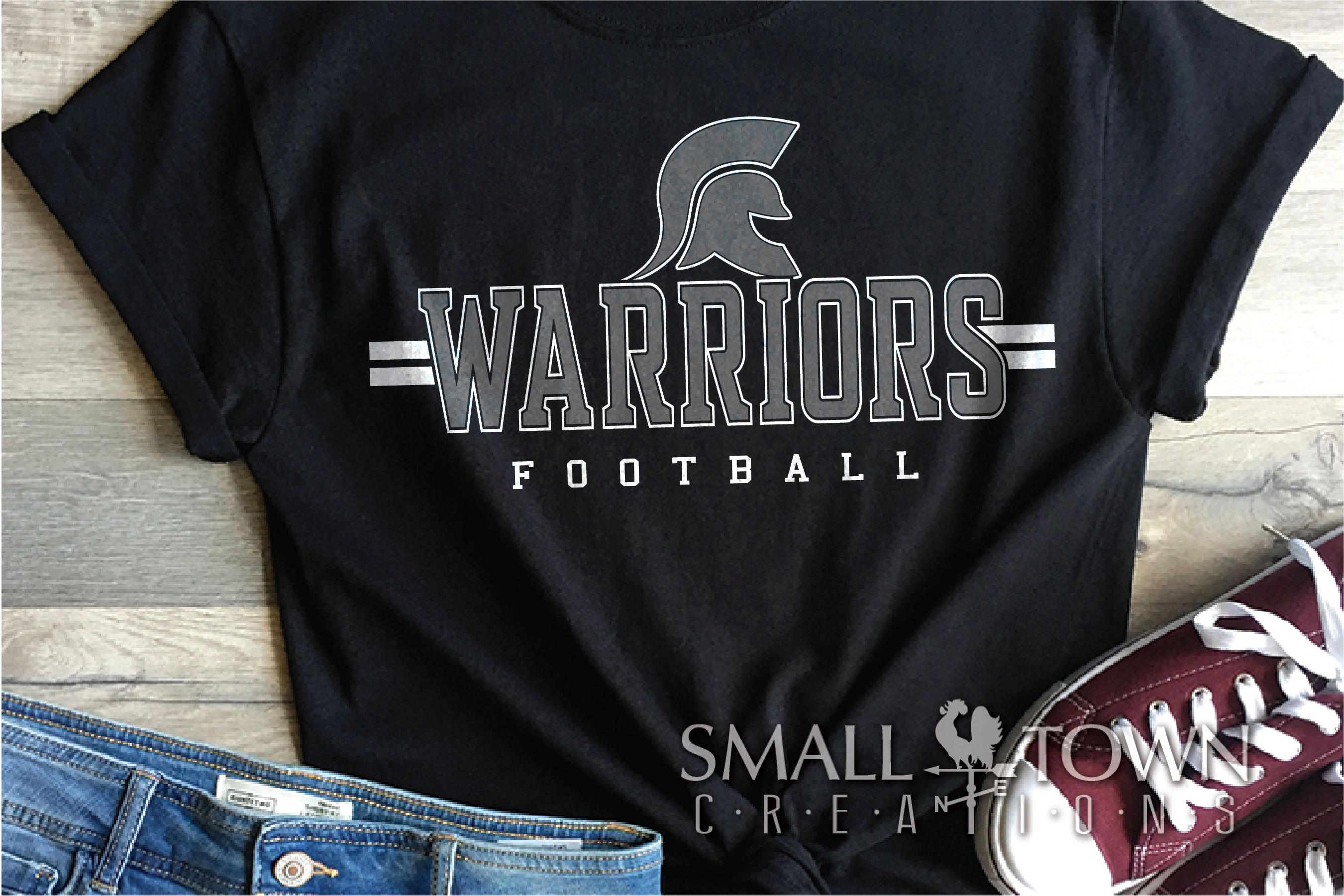 Warrior Football, Team, Sports, Logo, PRINT, CUT & DESIGN example image 1