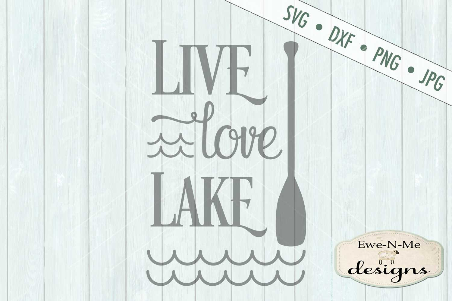Live Love Lake - Summer - SVG DXF Files example image 2
