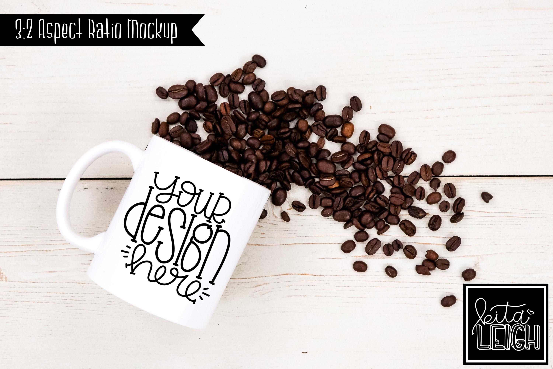 11 oz Mug Mockup with Coffee Beans example image 1