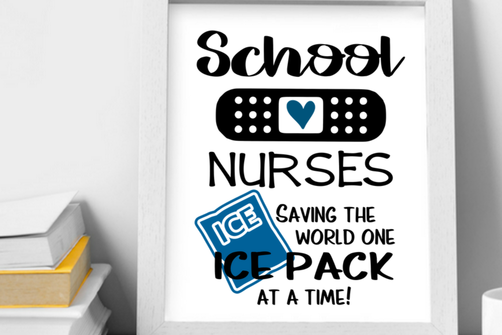 School nurse wall art printable, School nurses print gift example image 1