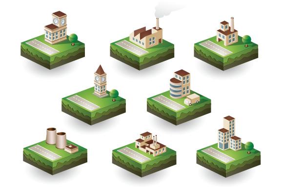 Set  Isometric vector city example image 4