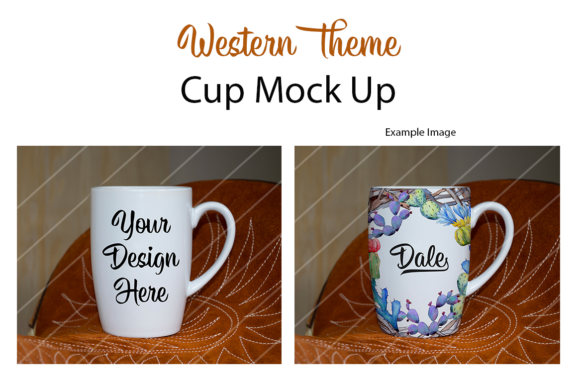 Cup Mock Up - Western Theme example image 1