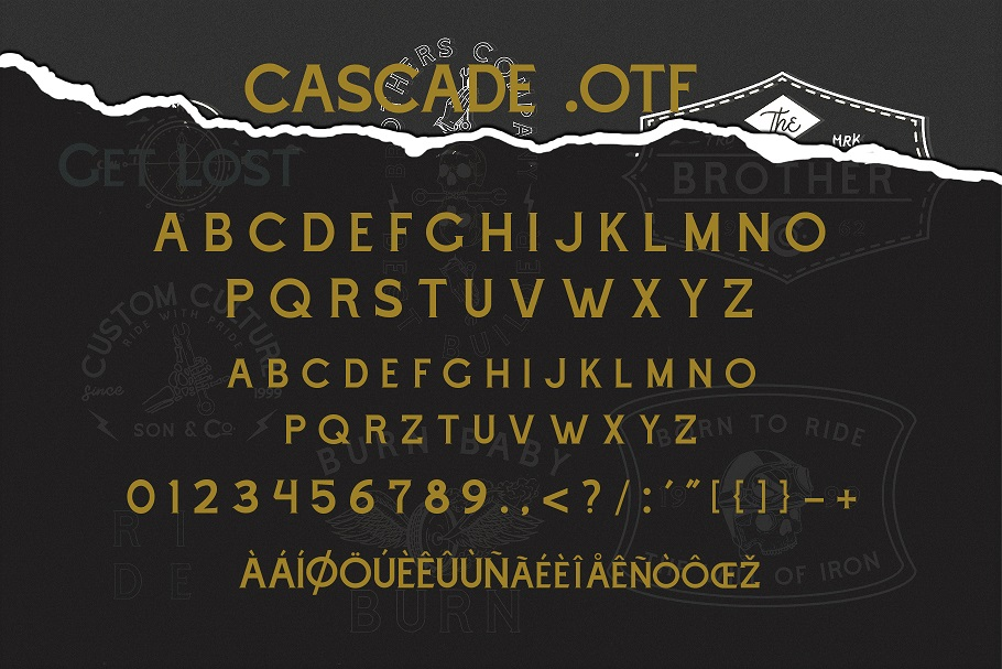 Cascade Motorcycle font example image 7