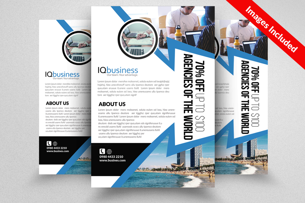 Industrial & Commercial Construction Flyer example image 1