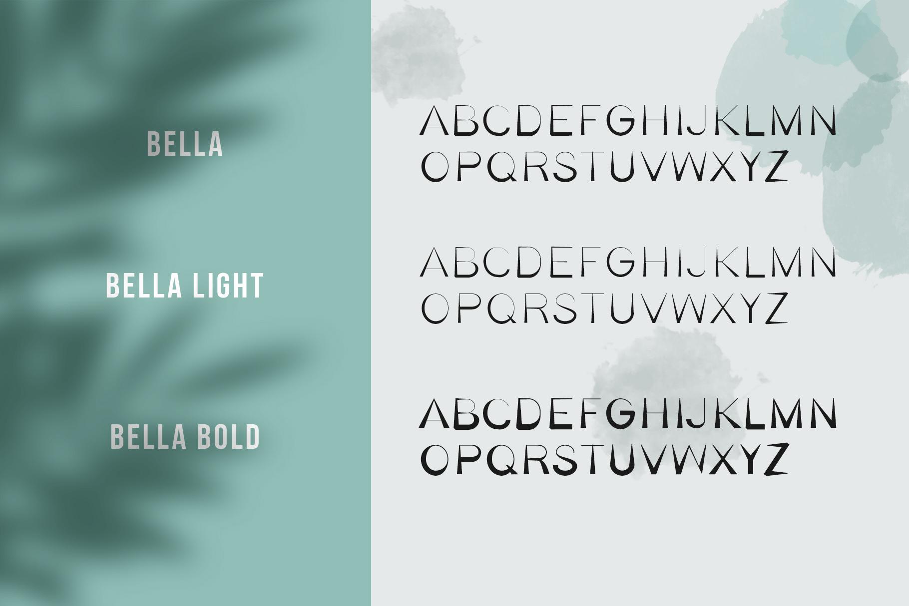 Bella Serif Font Family example image 5