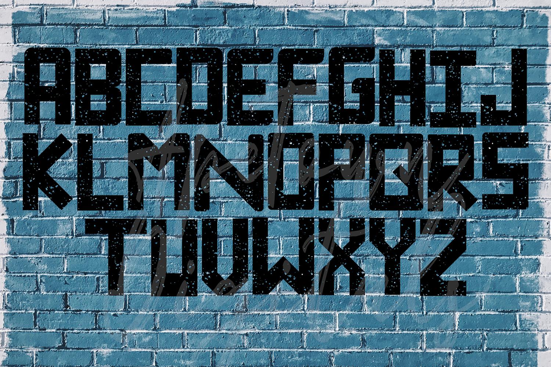 Grunge Font, Distressed Font, Sport Font, Athletic font example image 4