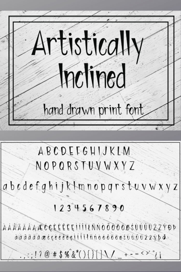Artistically Inclined - Hand drawn print font example image 5