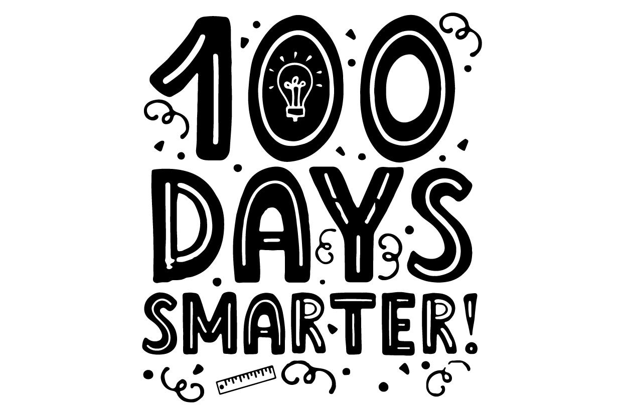 School svg, 100 days smarter svg, Back to school Teacher example image 2