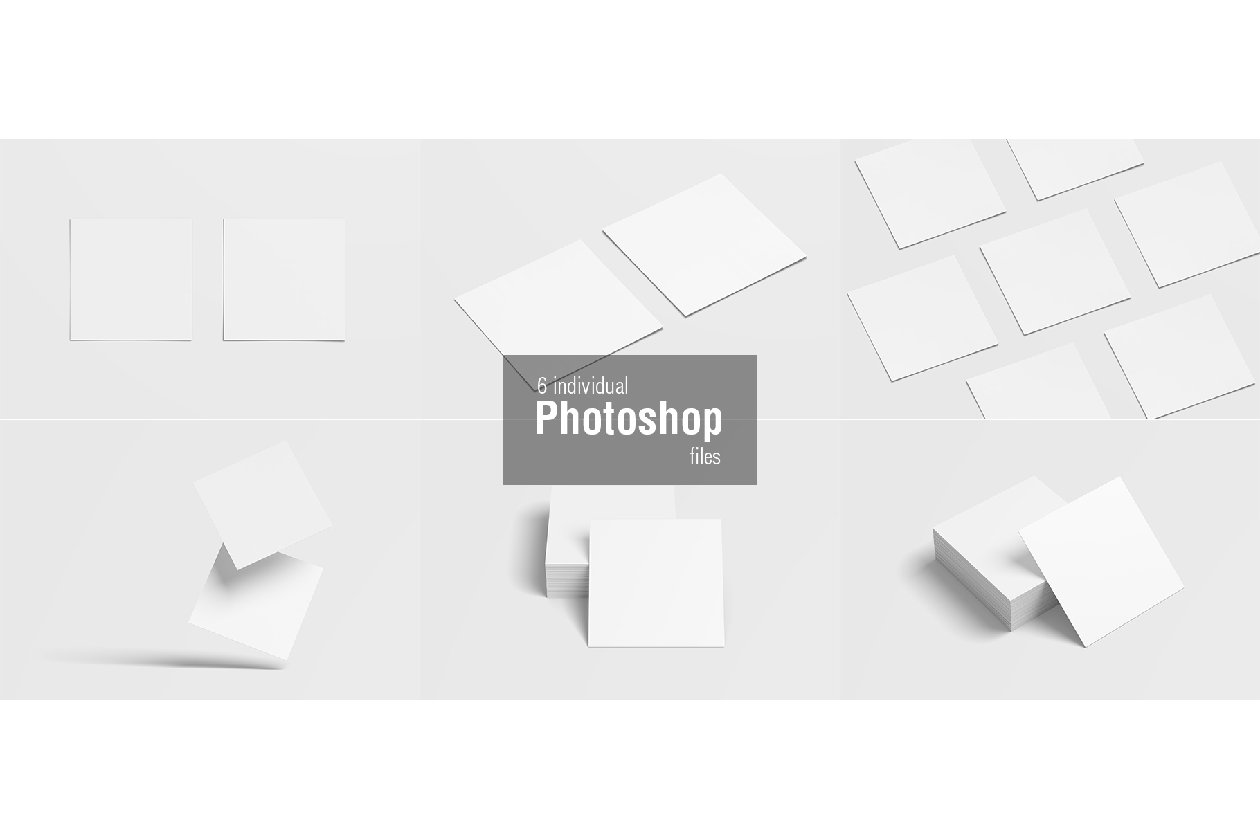 Square Business Card Mockup example image 8