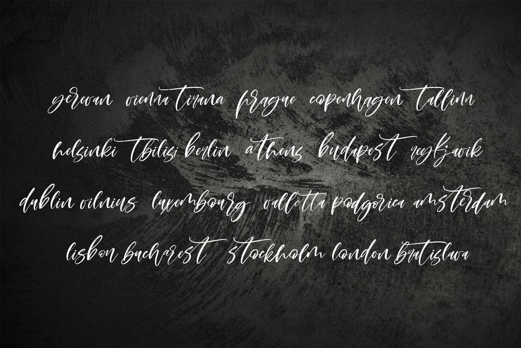 Montenegro textured script font example image 12