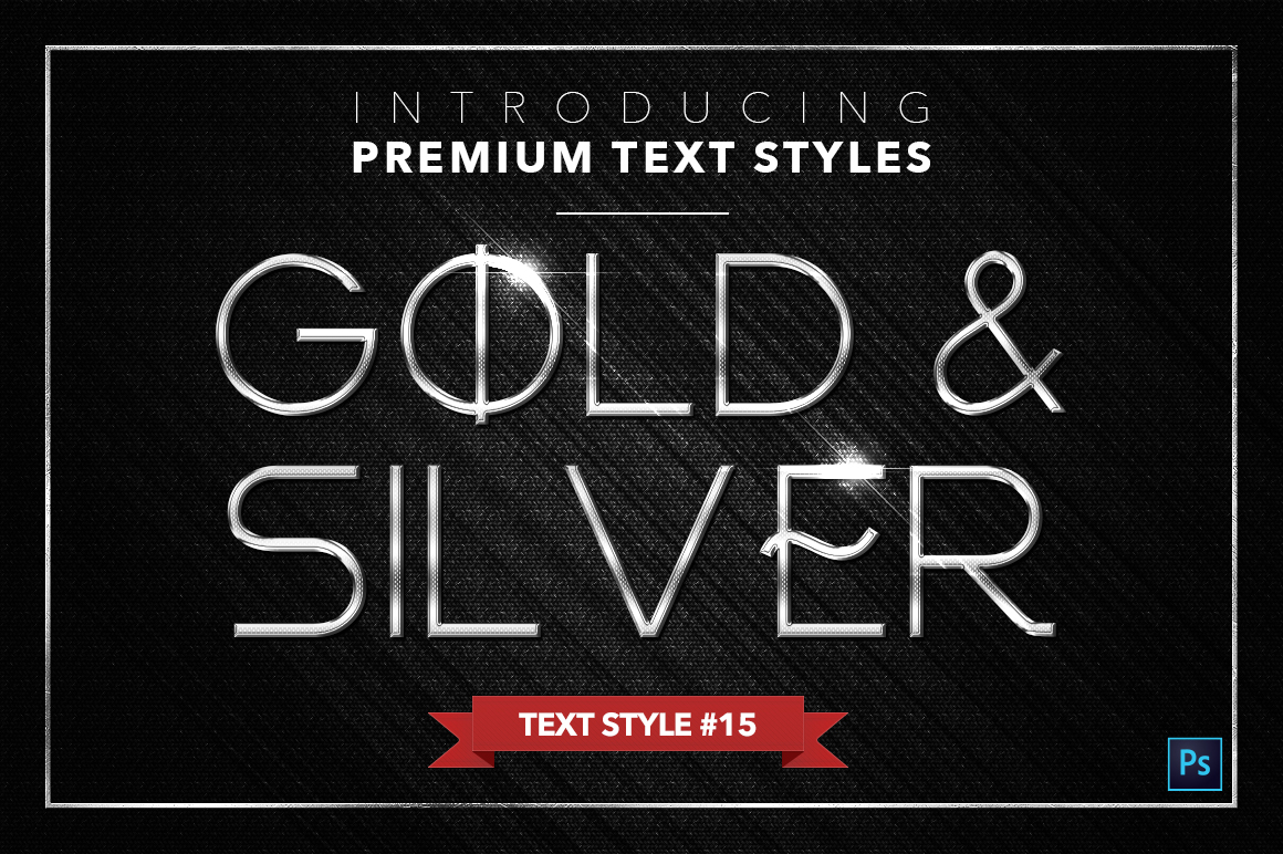 Gold & Silver #3 - 15 Text Styles example image 5