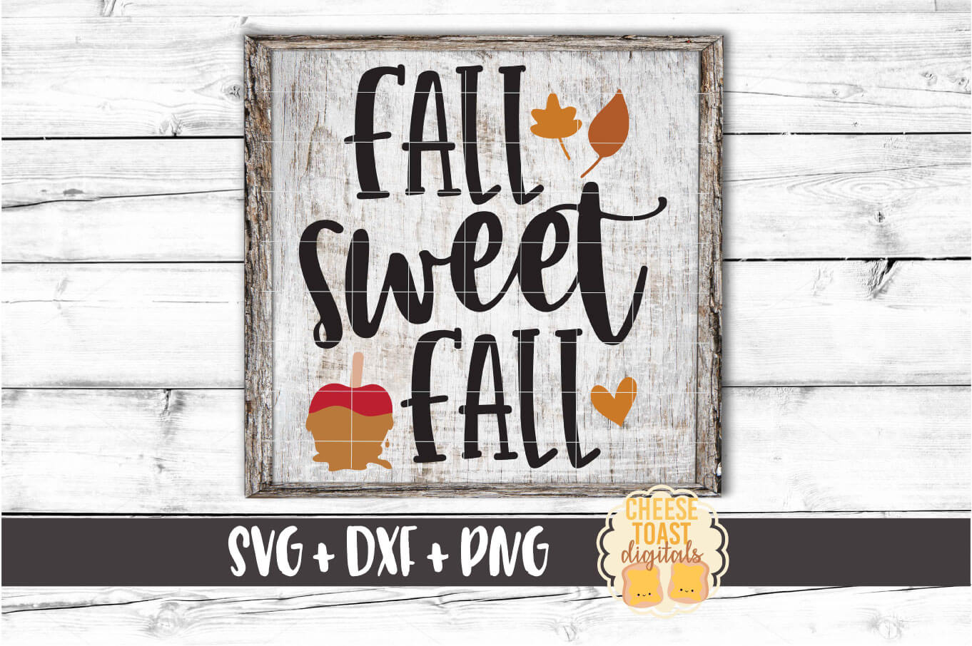 Fall Sweet Fall - Autumn Sign SVG PNG DXF Cut Files example image 1