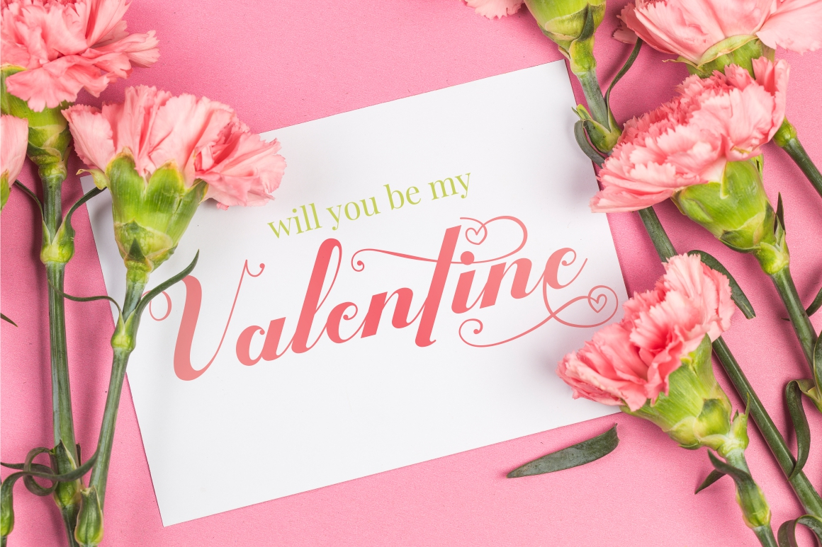 Valentijn - Romantic Font example image 3