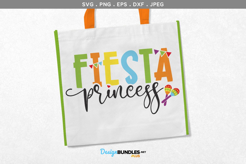 Fiesta Princess - svg & printable example image 1