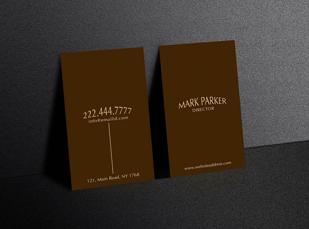 Minimal Professional Business Card example image 3