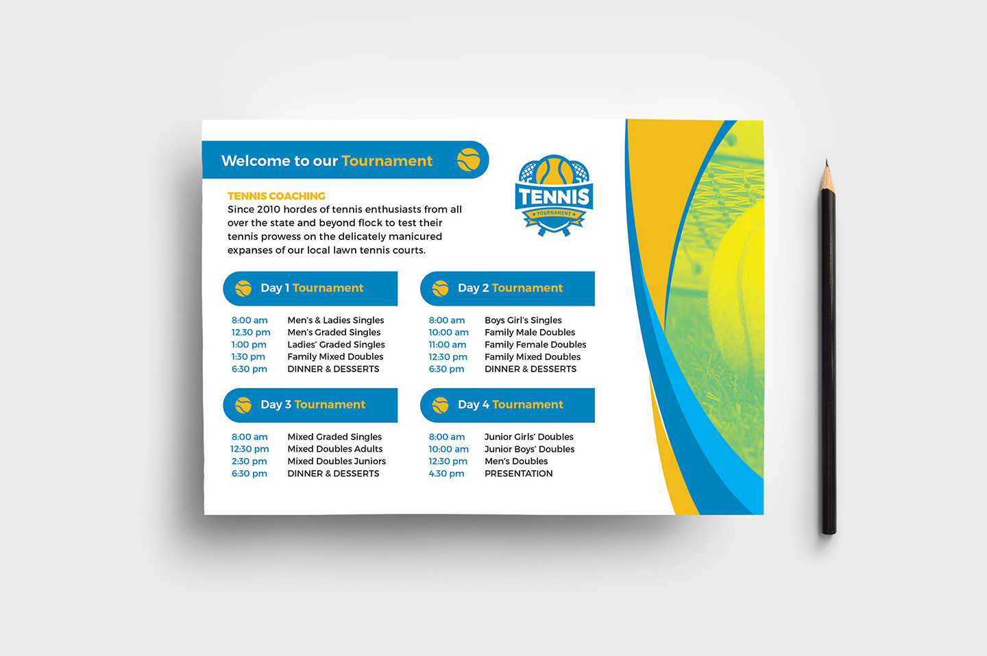 Tennis Event Flyer Template example image 1