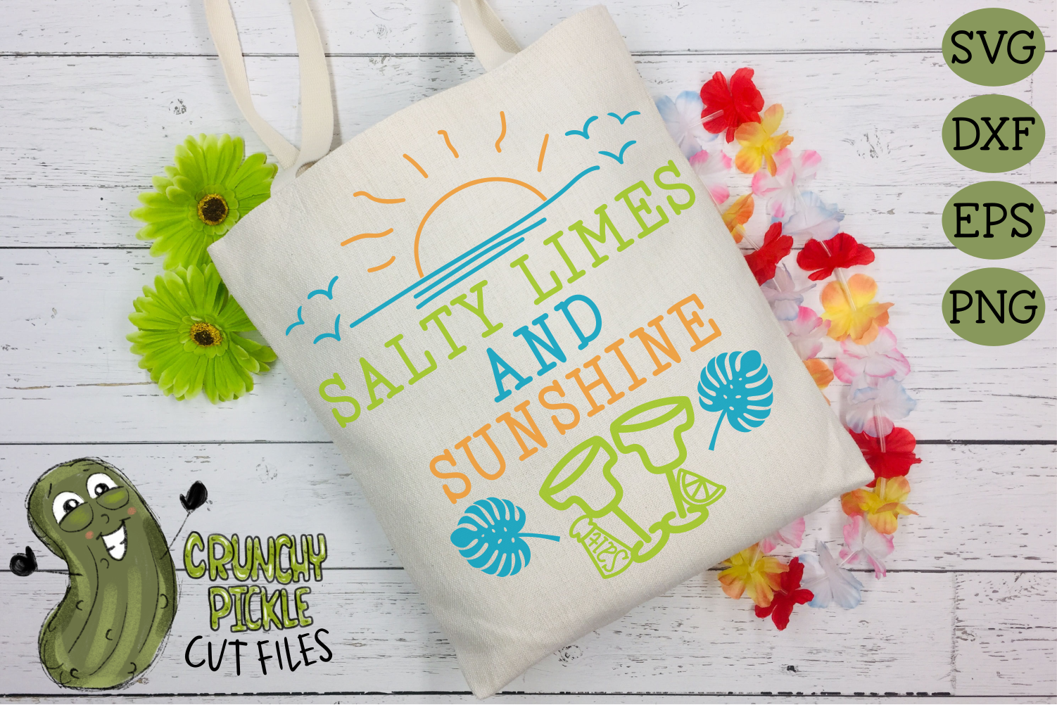 Salty Limes and Sunshine Summer Beach SVG example image 3