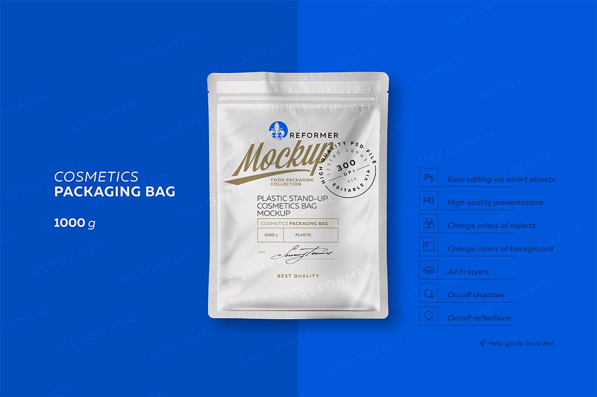 PLASTIC COSMETICS BAG 2 Mock-Ups files example image 1