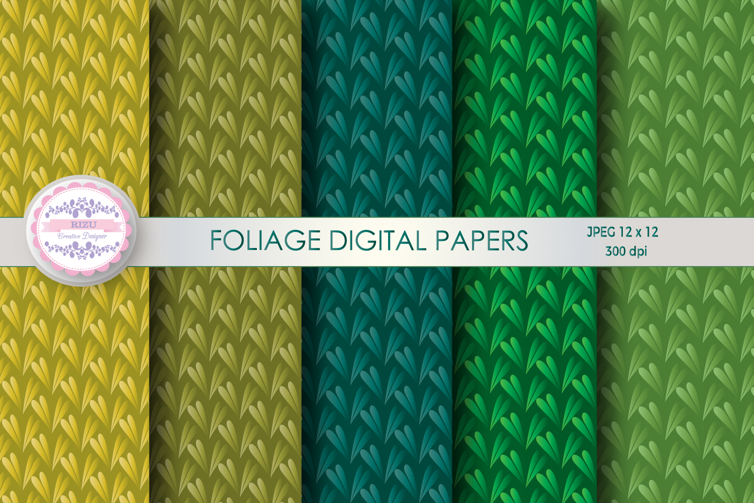 FOLIAGE DIGITAL PAPERS example image 1