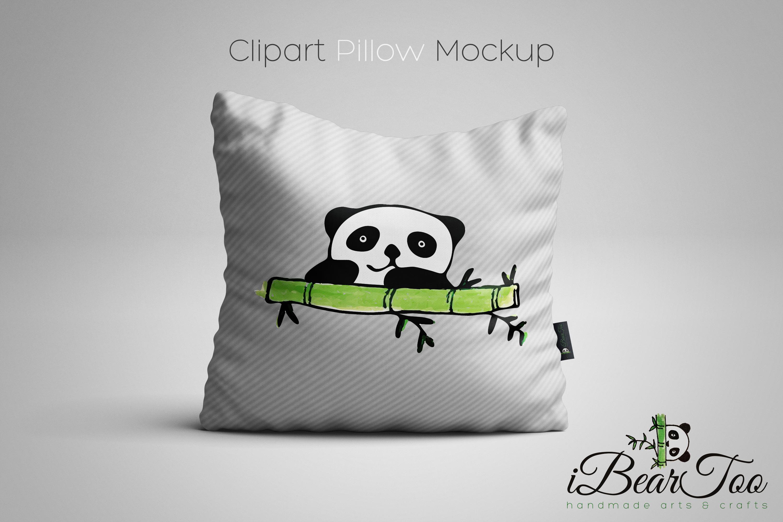 Panda SVG Watercolor Clipart Bear Drawing Vector Cut File example image 10