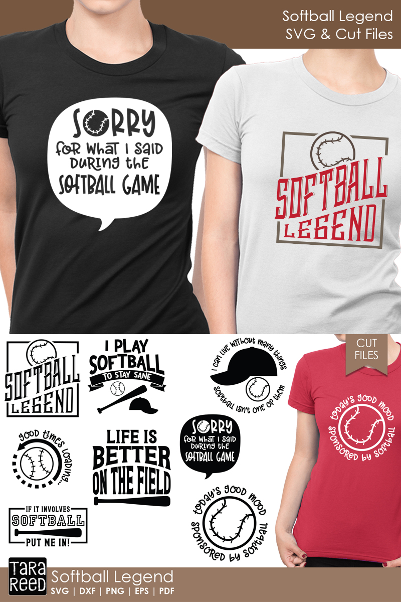 Softball Legend - Softball SVG and Cut Files for Crafters example image 2