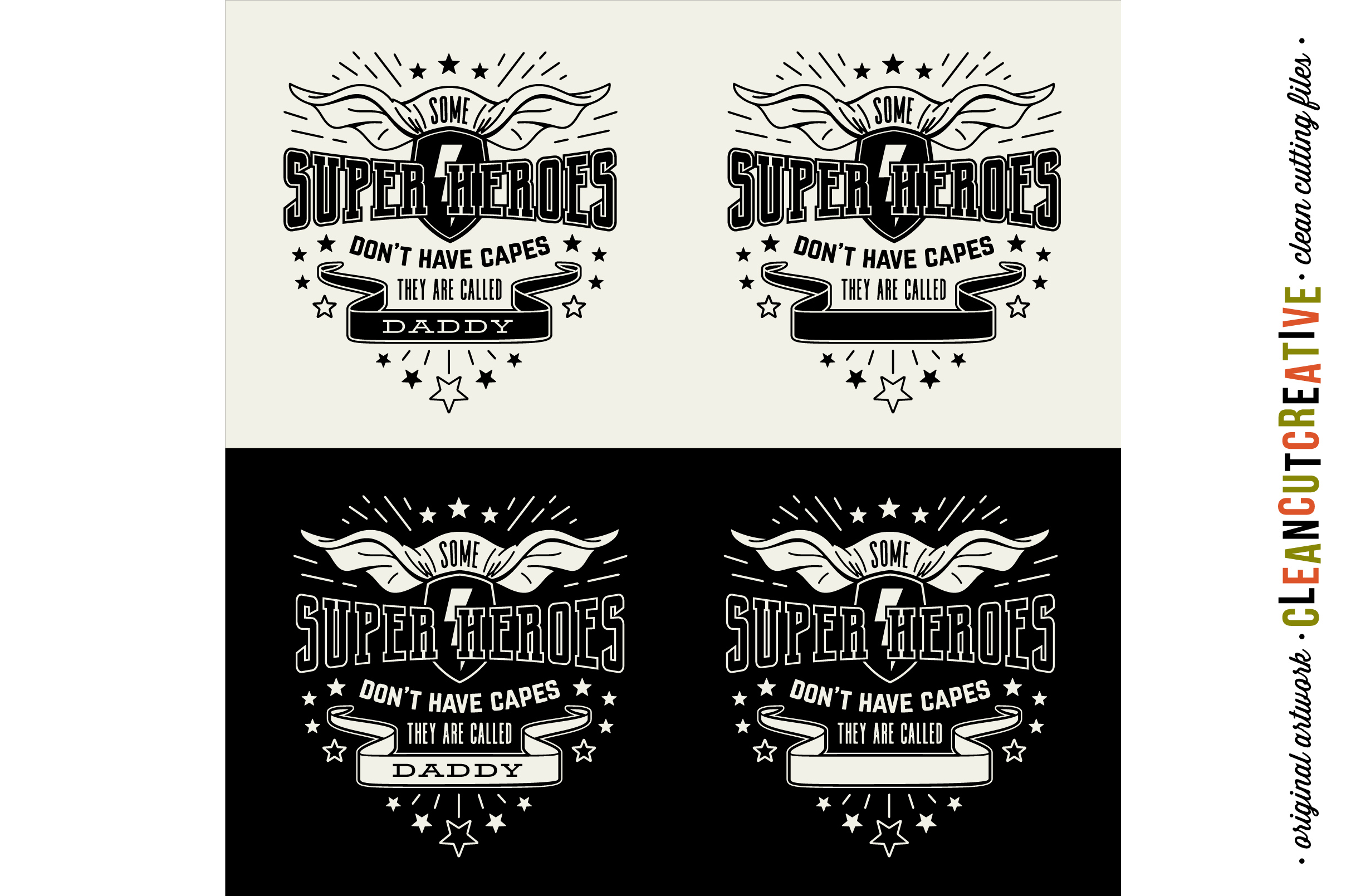 Some Super Heroes don't have Capes - they are called DADDY/YOUR NAME - SVG DXF EPS PNG - Cricut & Silhouette - clean cutting files example image 3