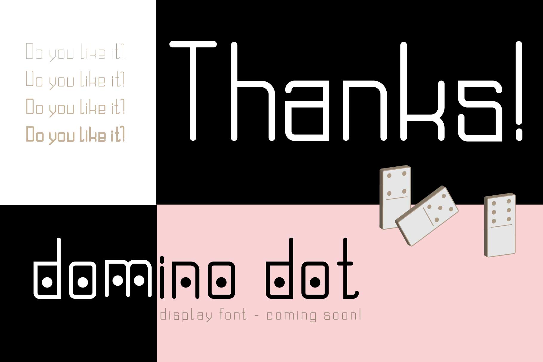 Domino font family  example image 10