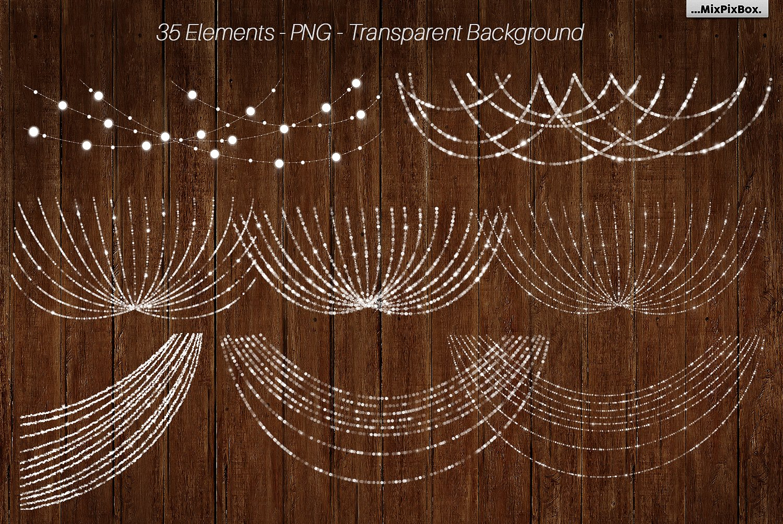 String Lights v3 clipartbackgrounds example image 2