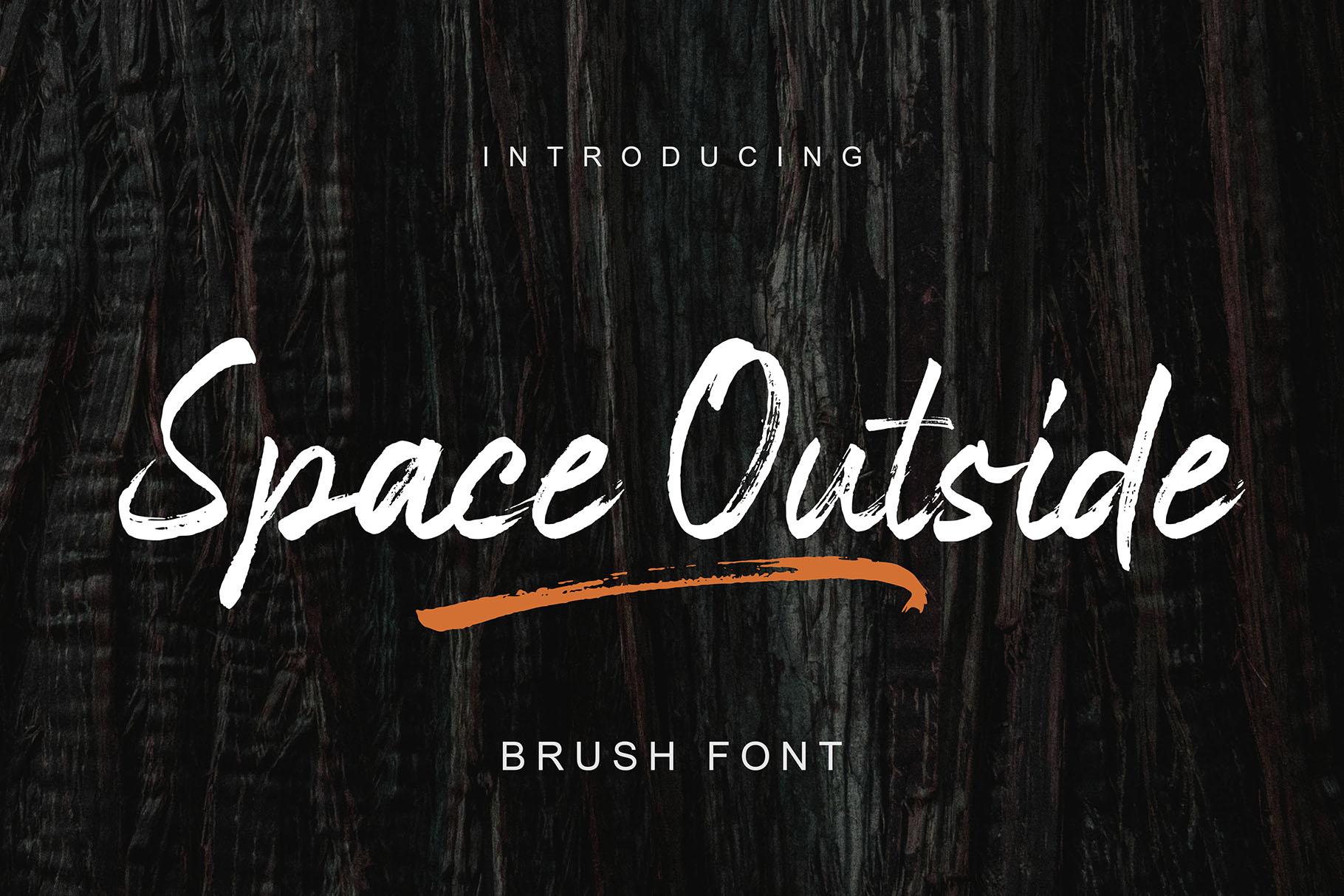 Space Outside Handbrush Font example image 10
