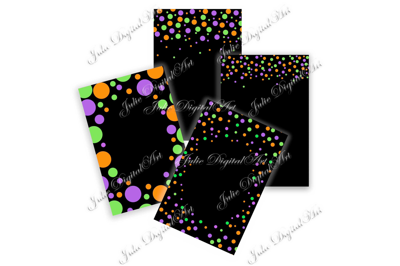Confetti digital Black white digital paper 4 x 6 example image 2