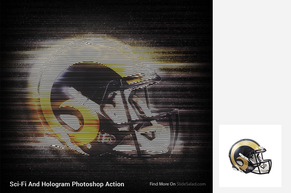 Sci-Fi And Hologram Photoshop Action example image 5