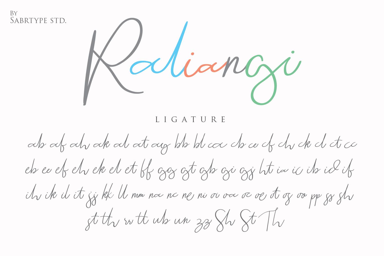 Raliangi Font example image 10