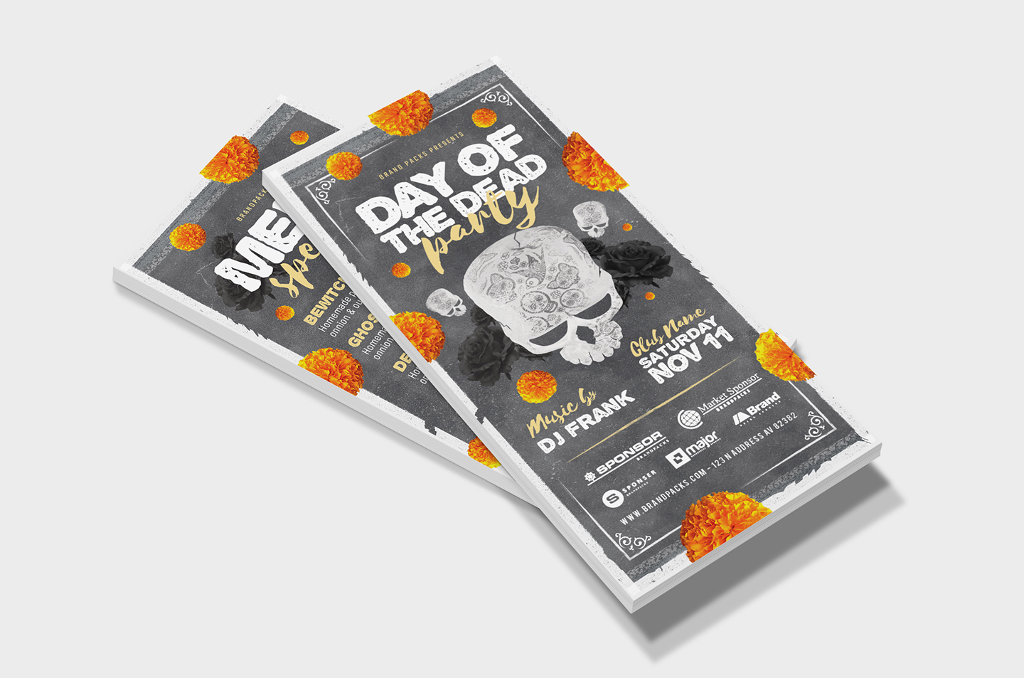 Day of The Dead Party Flyer Template example image 10