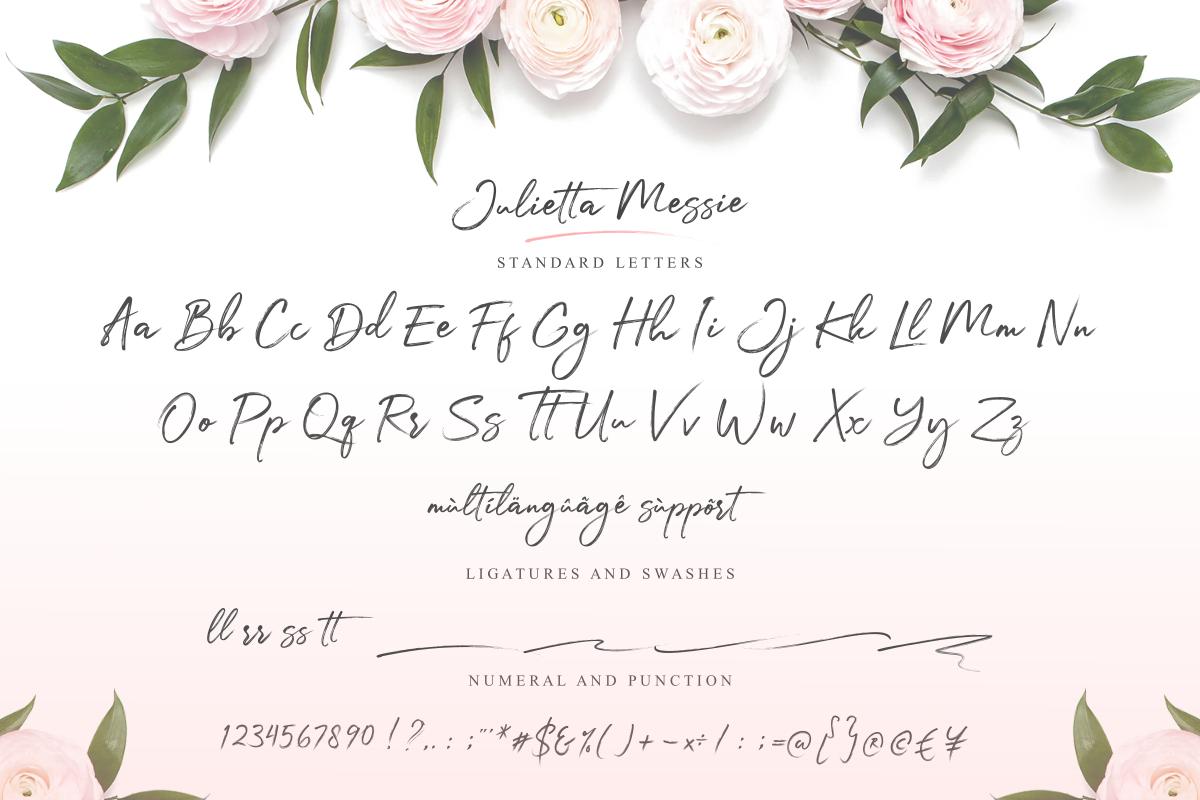 Julietta Messie | Brush Script example image 12