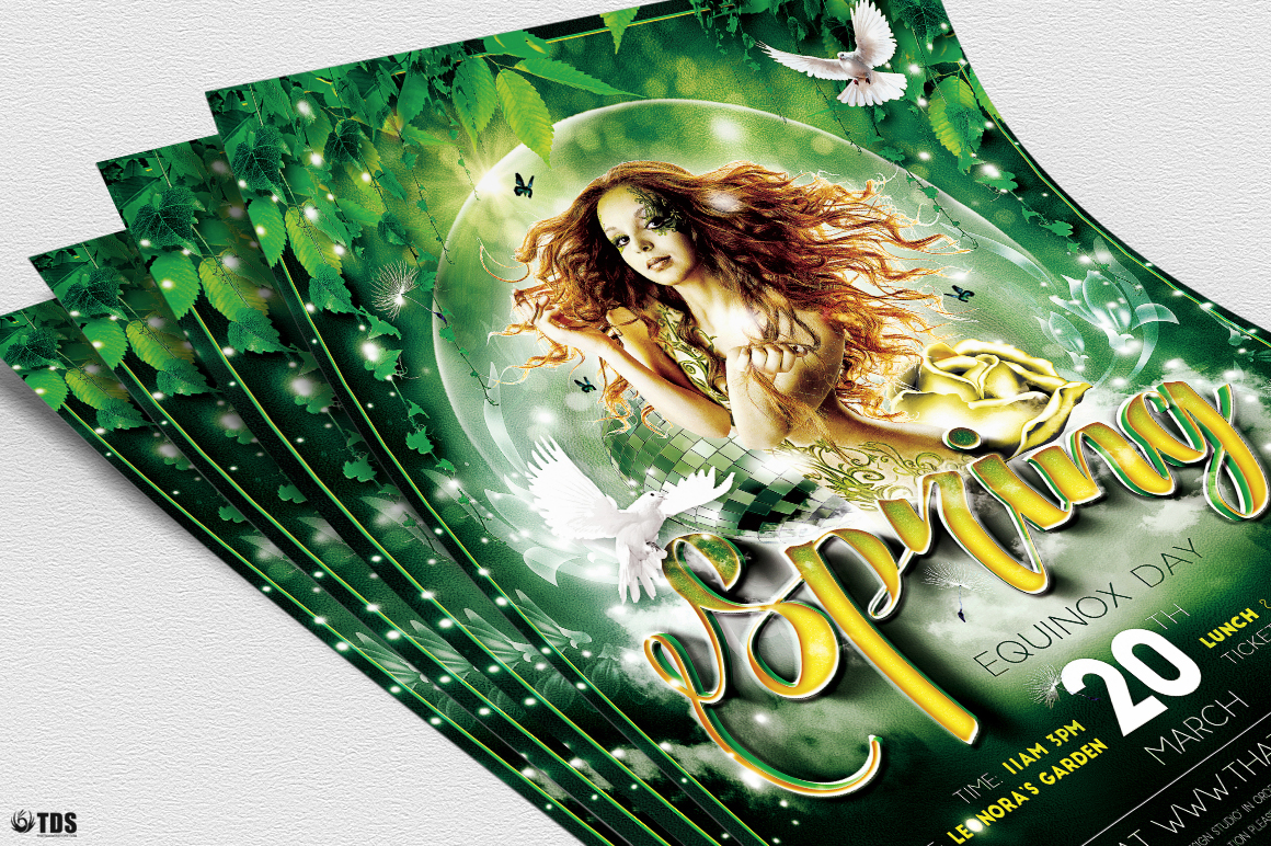 Spring Equinox Flyer Template V2 example image 5
