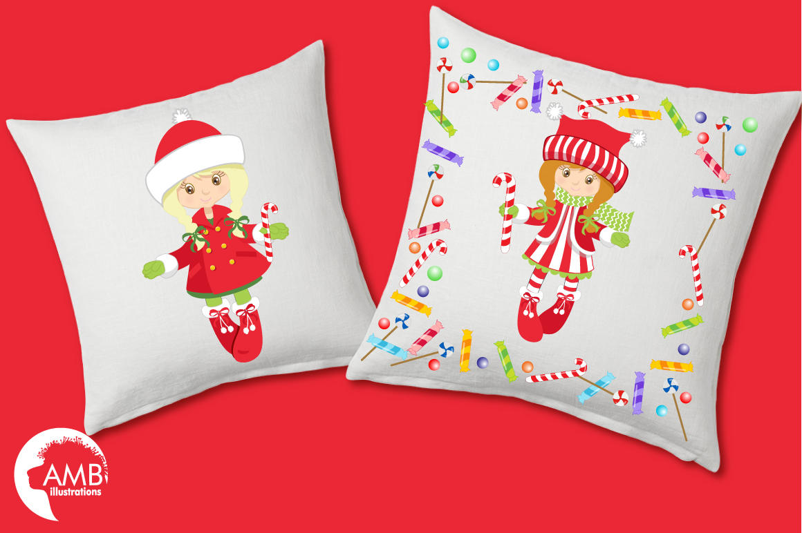 Christmas girls clipart, graphics, illustrations AMB-189 example image 3