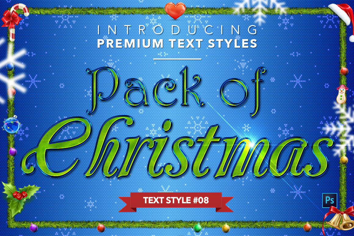 Christmas Pack #2 - 20 Text Styles example image 9