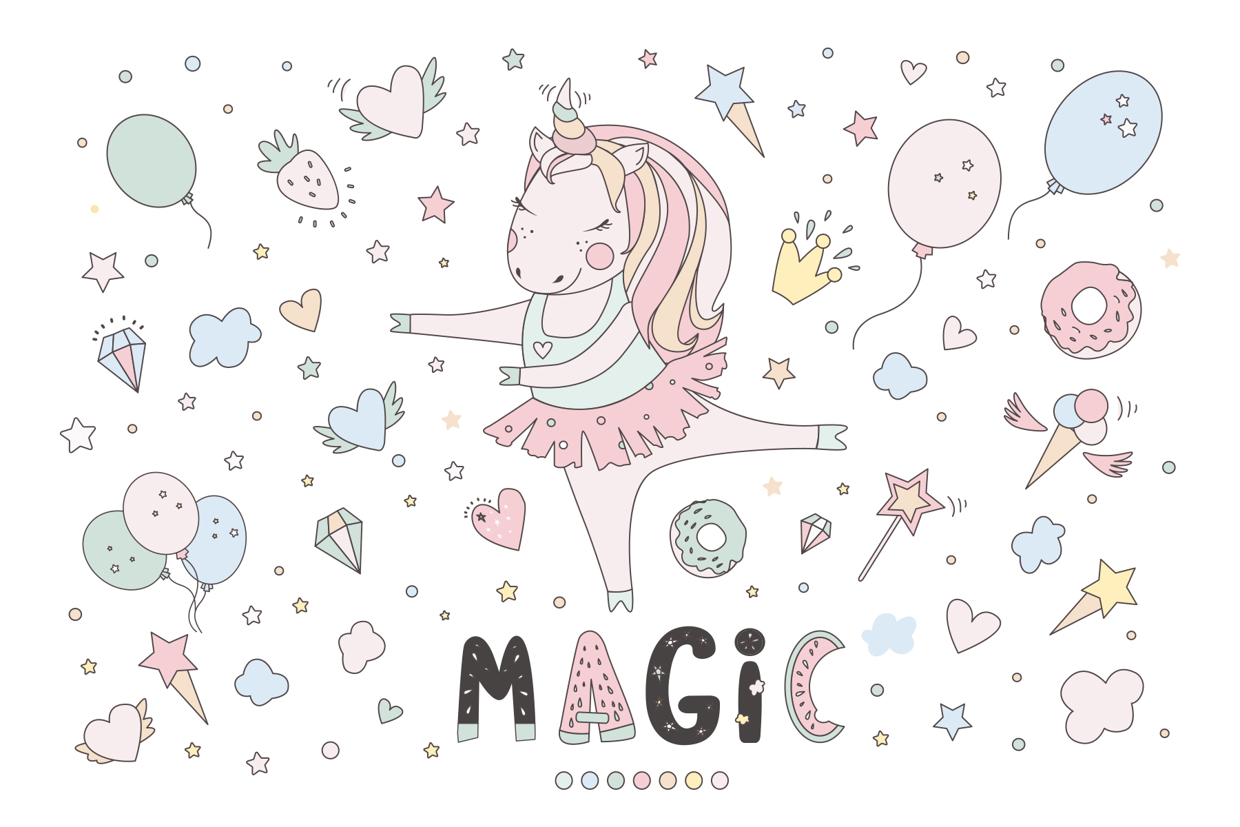 Magical collection of unicorns example image 3