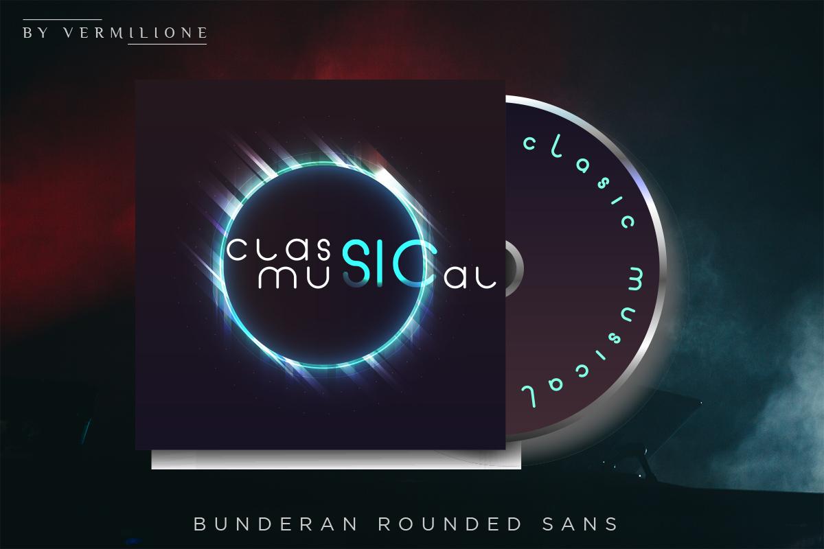 Bunderan Rounded Sans example image 7