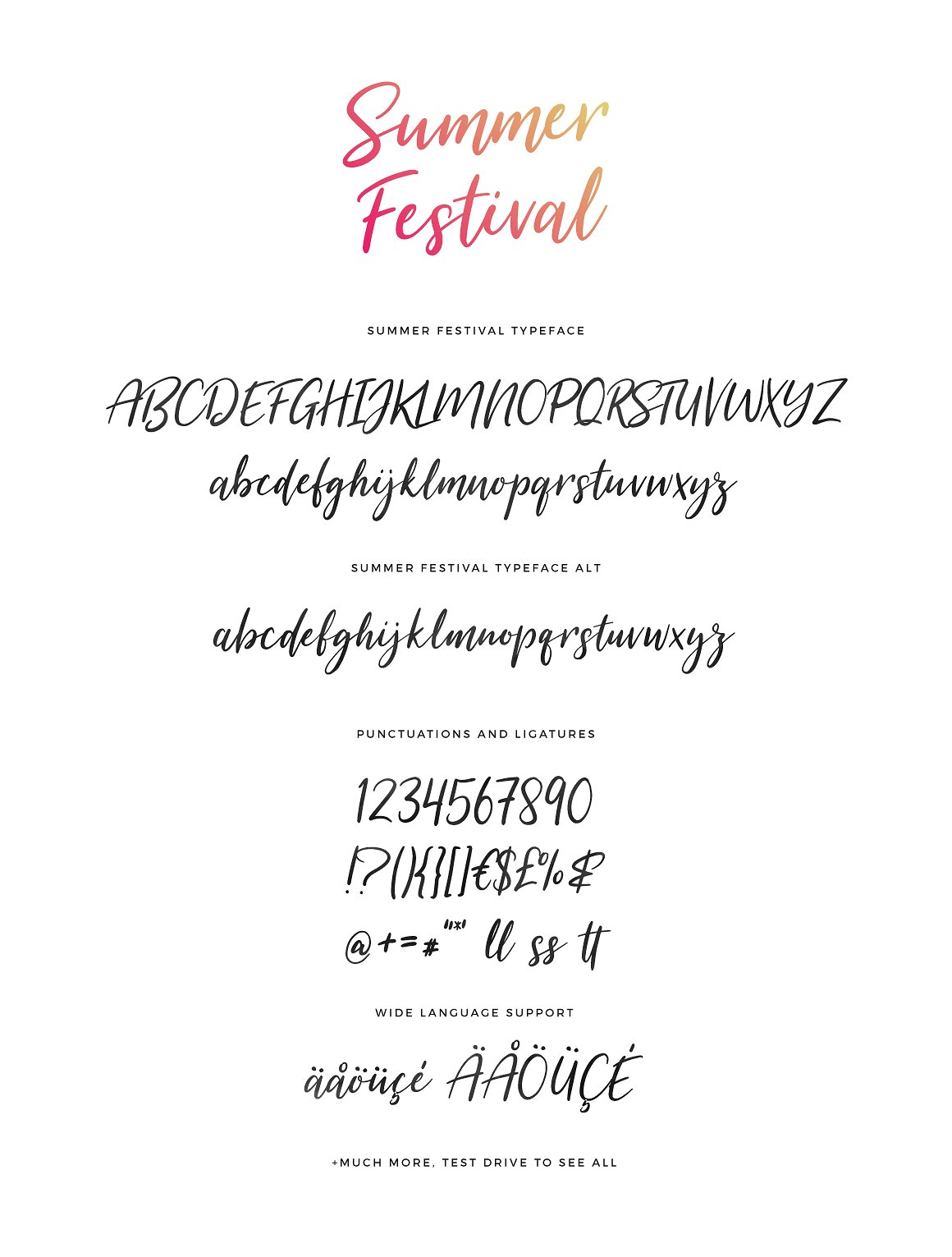 Summer Festival Typeface example image 7