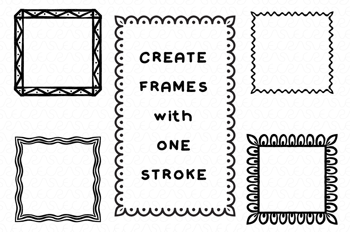 Vector Brushes - Handmade Tribal Style Graphics example image 11