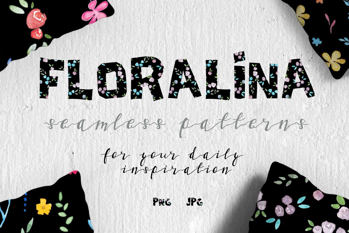 Floralina-10 Floral Vintage Patterns example image 1