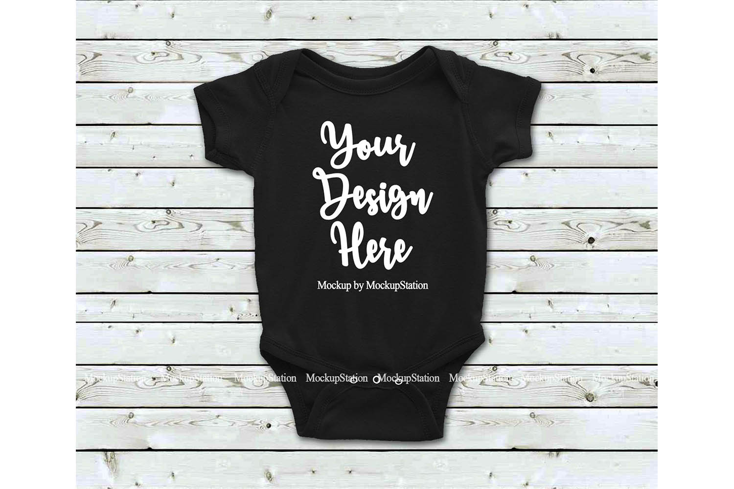 Basic Baby Bodysuit Mockup Bundle, Toddler Newborn One Piece example image 2