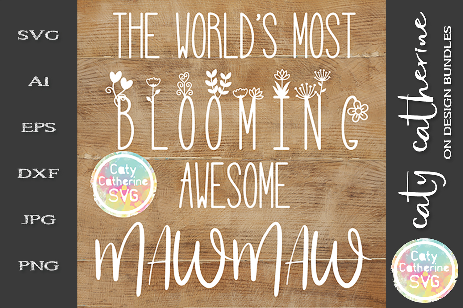 The World's Most Blooming Awesome Mawmaw SVG example image 1