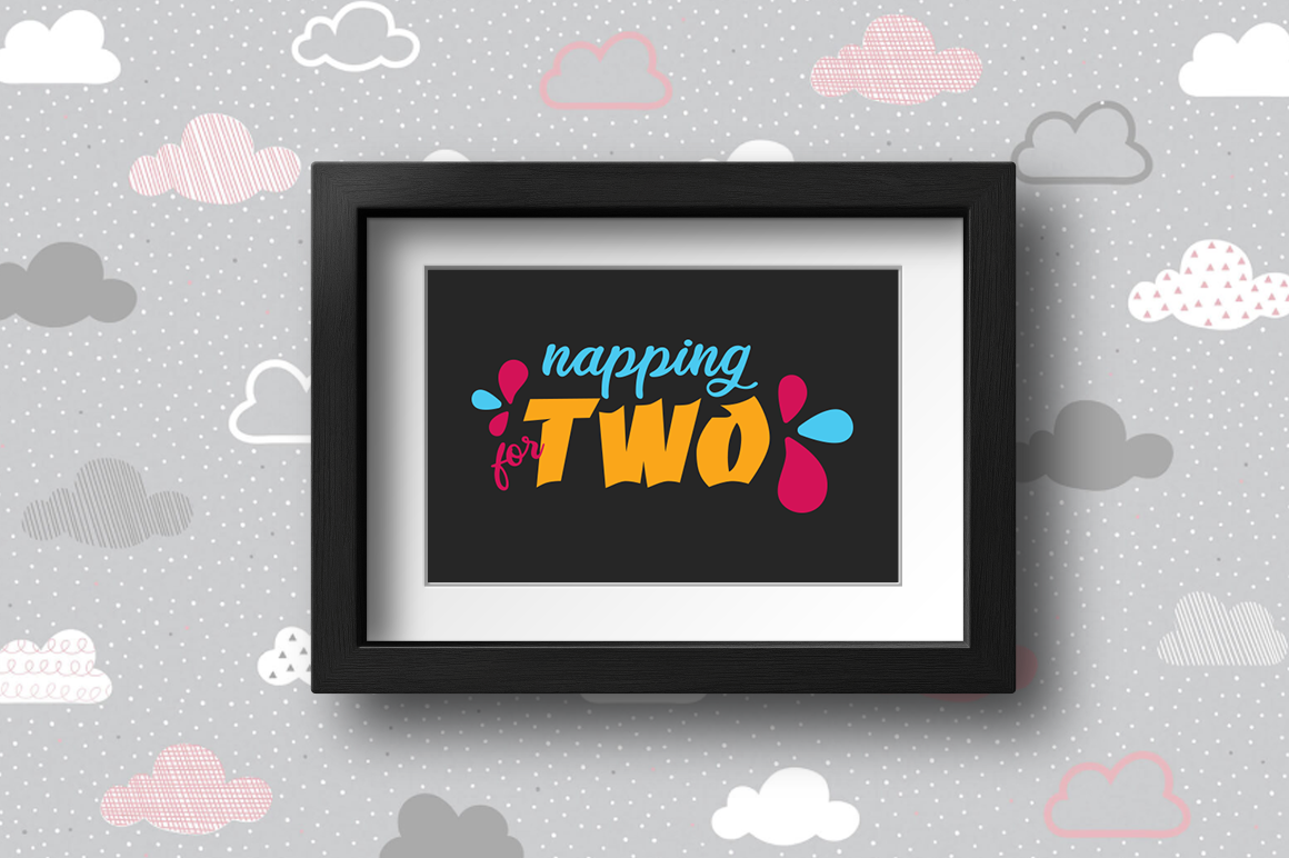 Pregnancy Announcement SVG Cut Files - Napping for two example image 2