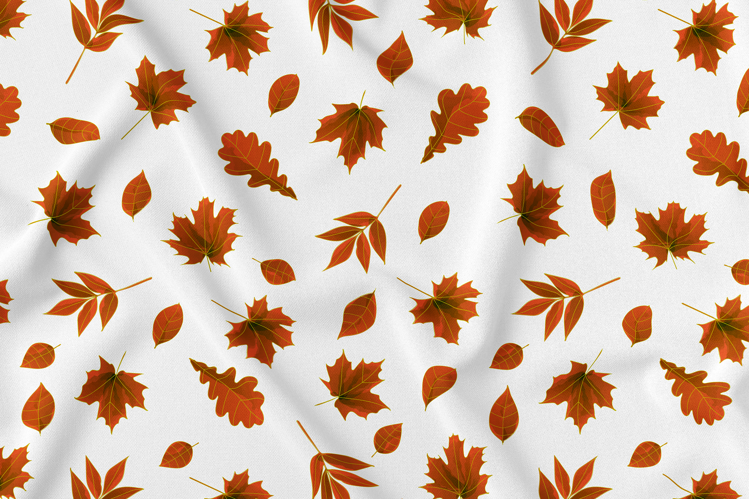 Autumn watercolor leaves pattern, seamless. example image 5