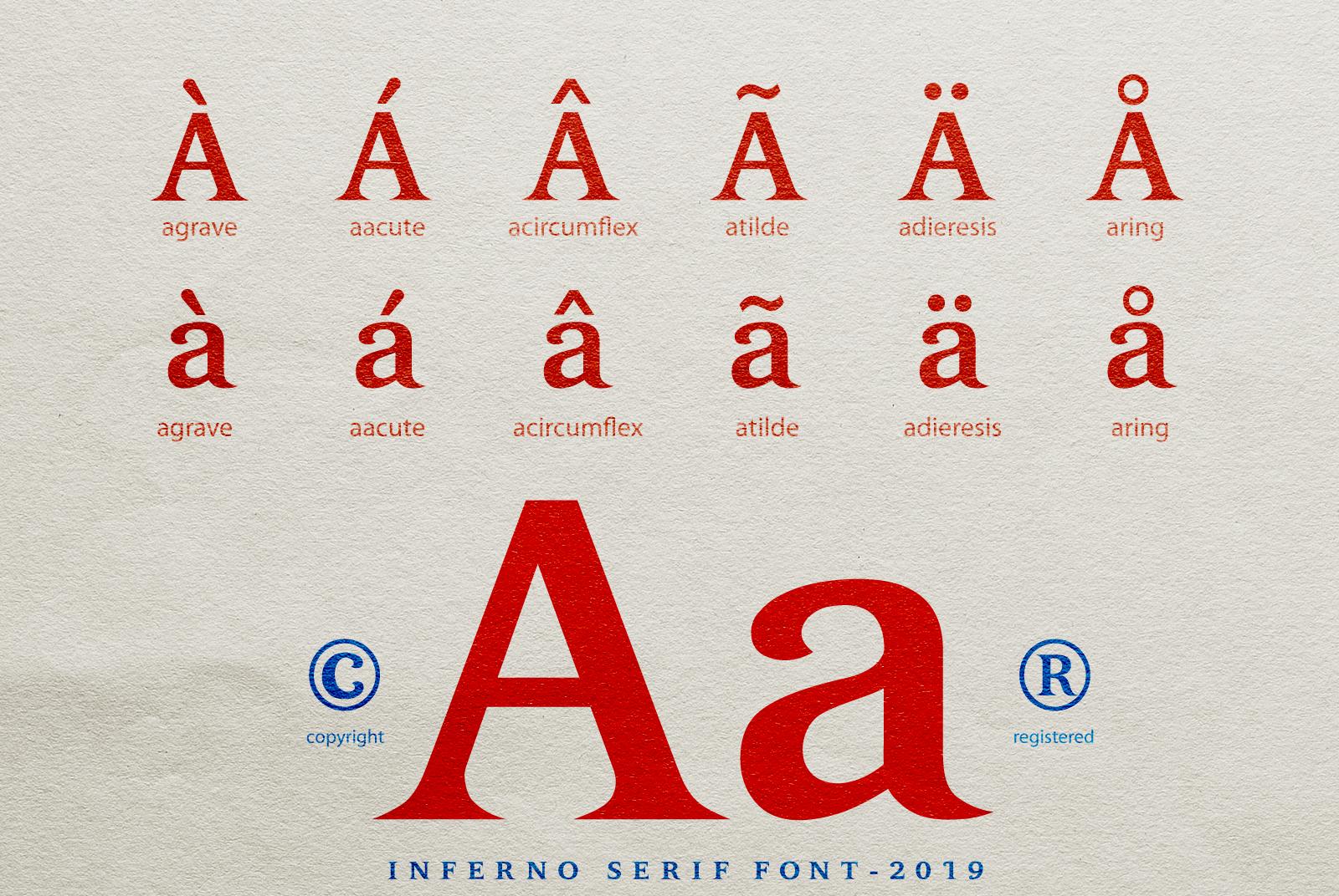 INFERNO Serif font example image 16