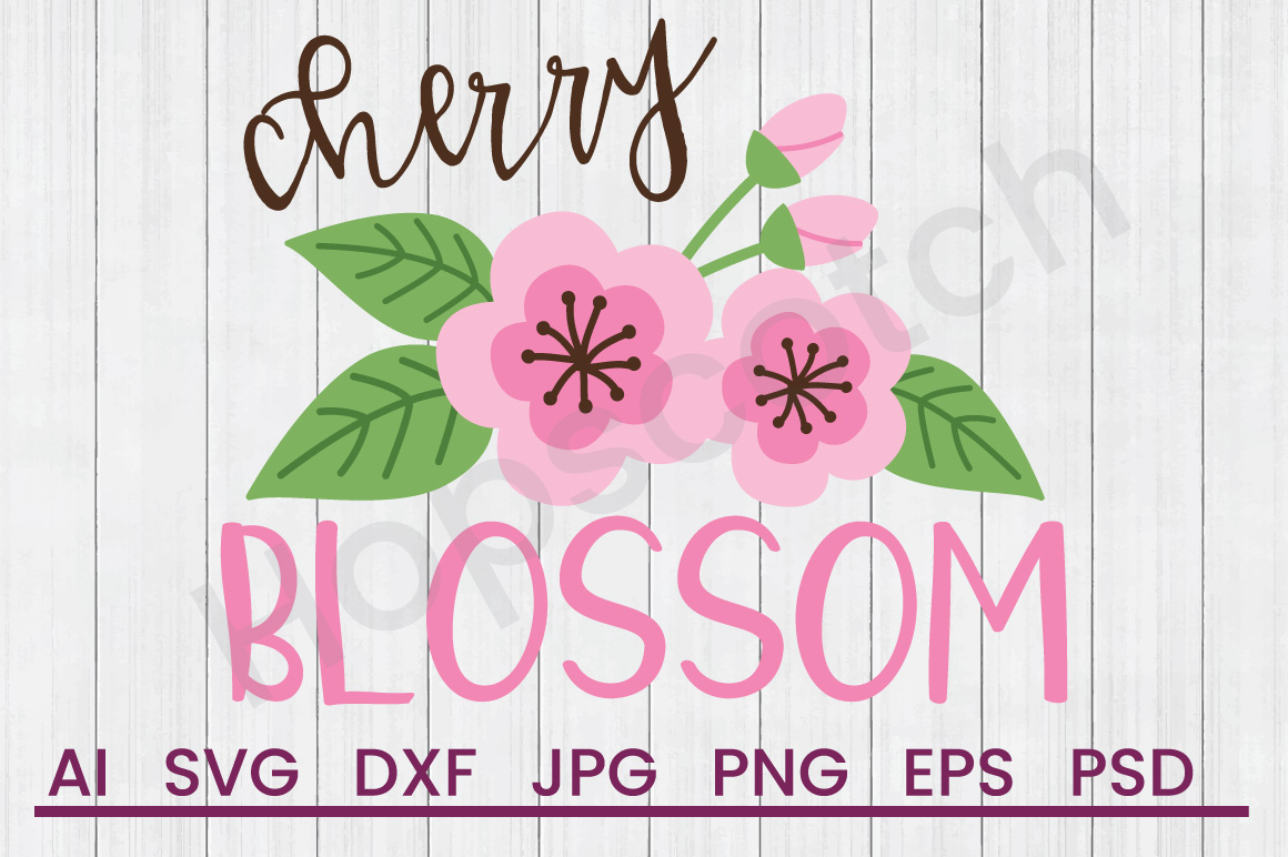 Flower SVG, Cherry Blossom SVG, DXF File, Cuttatable File example image 1