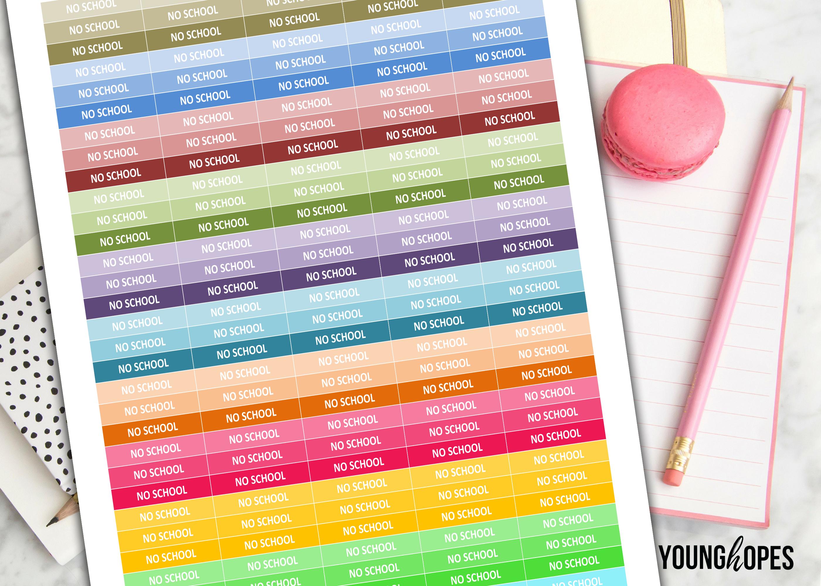 No School Planner Stickers- No School Printable Planner example image 2